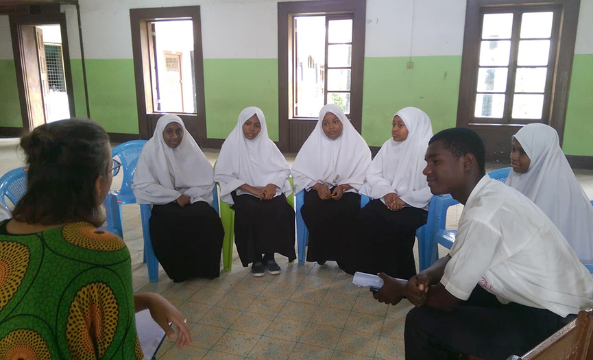 REZA held Discussion on ROOTS & SHOOTS Zanzibar Project at Lumumba Secondary School
